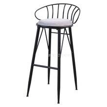 Creatove современный декоративный Железный арт барный стул с металлической подкладкой для отдыха кофейный стул на стойке 4 ноги высокий табурет мягкая подушка сиденья