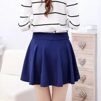 10 Colors Women Skirt Shorts Plus Size Candy Colors Red White Blue High Elasticity Pleated Skirts