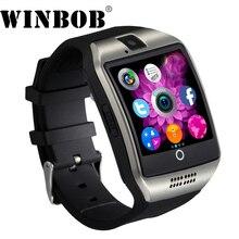 2018 Relógio Inteligente Q18 MTK6261 com Sim & Slot Para Cartão de TF Empurre Mensagem Câmera Conectividade Bluetooth Telefone Android melhor do que DZ09 A1