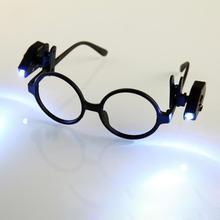 Glasses Flashlight Book-Reading-Lights Adjustable Flexible Mini Lantern Universal