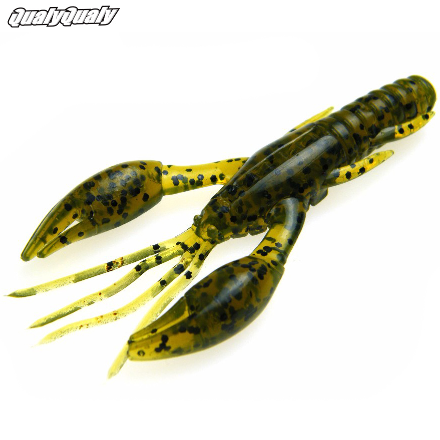 10 Pcs/Lot 7.5cm 2.8in 7g Fishing Lures Soft Baits Lures Lobster Lifelike Crayfish Shrimps Artificial Baits For Sea Fishing Lure lifelike earthworm style fishing baits 5 pcs