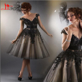 Vestidos De Fashion Summer Black Cocktail dress Party Ball Gowns Scoop Vestido Curto Formal Female for Weddings Party Gowns