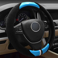 FULL WER Automotive Universal Winter New Splicing Steering Wheel Cover Plush, Anti-skid, Comfort Grip, Keep Warm and Fashionable