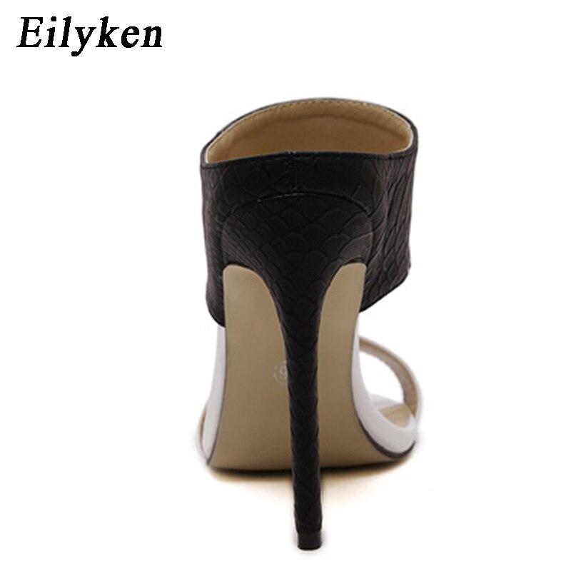 Eilyken/модные женские летние сандалии, шлепанцы, соблазнительные сандалии на тонком каблуке, женские шлепанцы, женская обувь на высоком каблу...