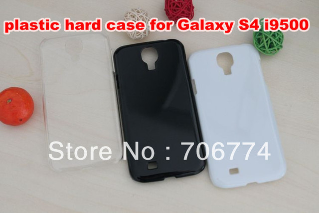Factory price !!! Newest Glossy Black Clear Plastic hard Back Skin Case For Samsung Galaxy S4 i9500 500pcs/lot