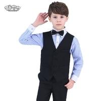 Boys Formal Blazer Wedding Suit 4PCS Kids Vest+Shirt+Pant+Bowtie Suit for Party & Wedding Boys Birthday Party Show Costumes