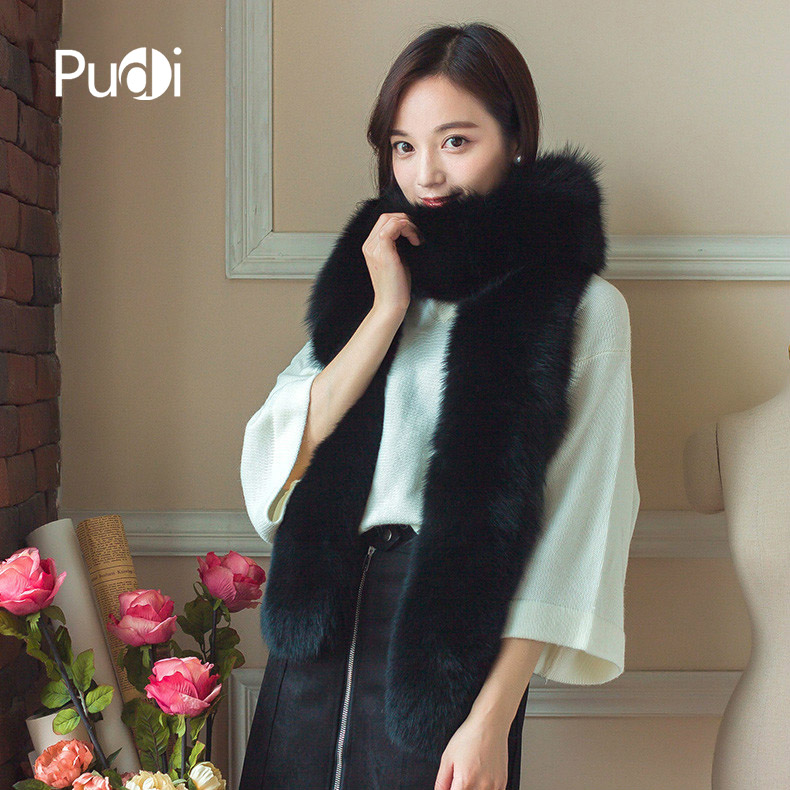 SCM019 The new winter women's   scarf   real fox fur brand new genuine fox fur long   scarves     wraps   winter   scarf