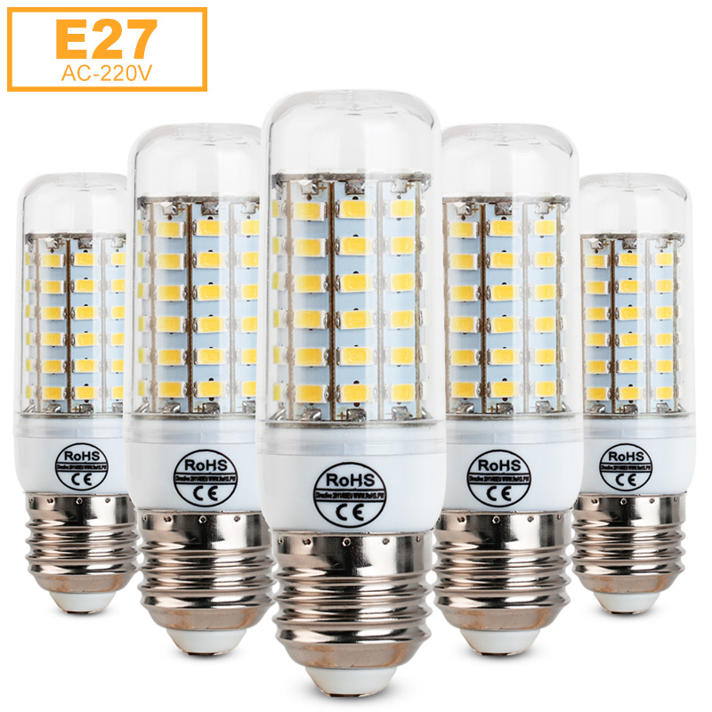 E27 Led Light 5730 SMD Corn Bulb Ampoule 220V Chandelier Lampada Led Spot Light 24 36 48 56 69LEDs Warm White/White hot sale winter jacket men fashion cotton coat warm parka homme men s causal outwear hoodies clothing mens jackets and coats