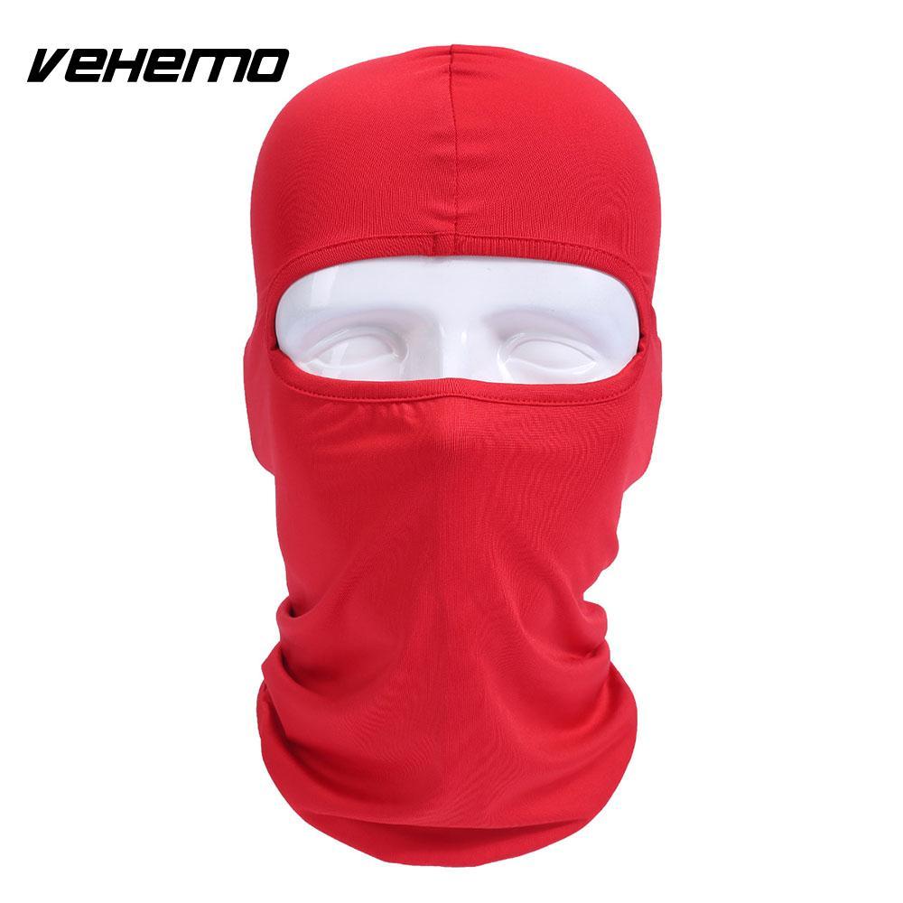 Vehemo аксессуары для улицы полная мотоциклетная маска для защиты лица шапки унисекс 14 цветов Практичная Балаклава лайкра защита удобный - Цвет: red