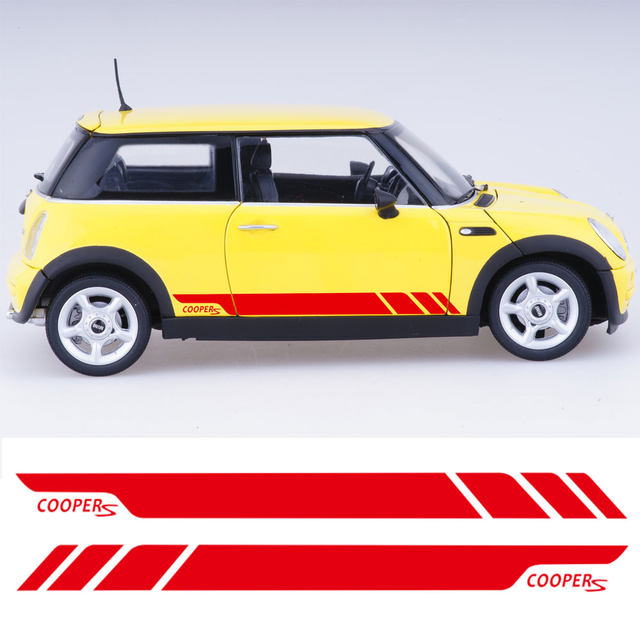 Online shop pair of side stripe decal graphic sticker kit for mini 1 publicscrutiny Gallery