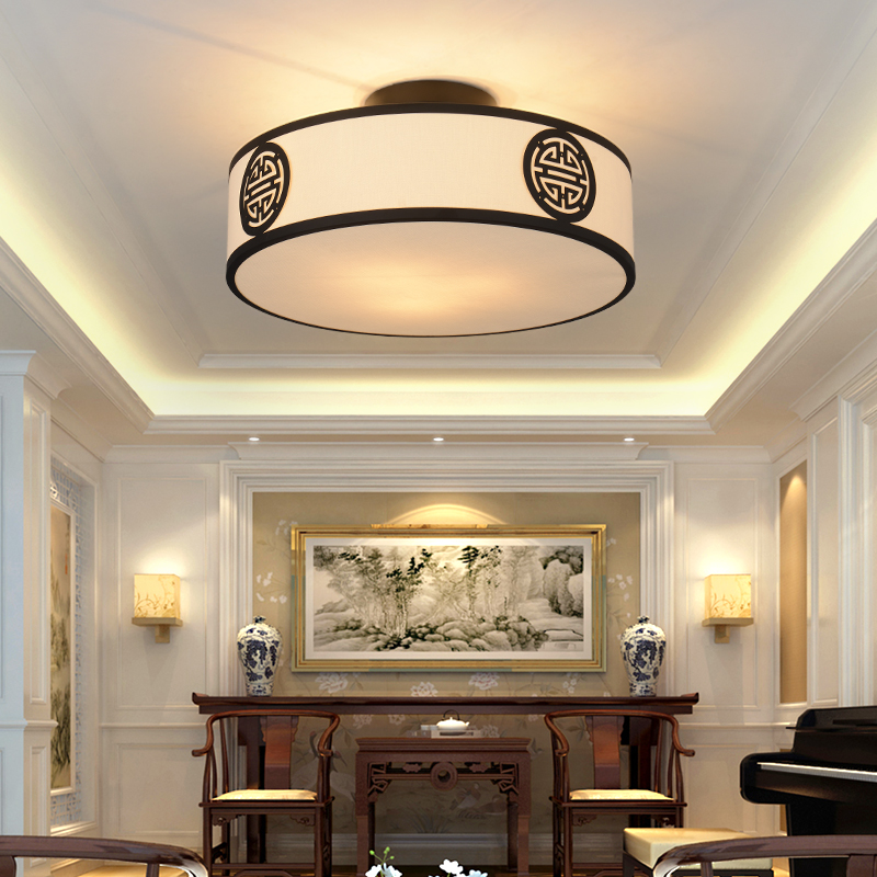 New Chinese style dome bedroom lamp Ceiling Lights modern simplicity antique wrought iron hotel study dining LU621 ZL226