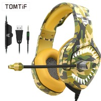 TOMTIF Stereo 3.5 Wired Headphones Over Ear ps4 Gaming Headset with Microphone for PC Computer Casque Audio for New Xbox One USB
