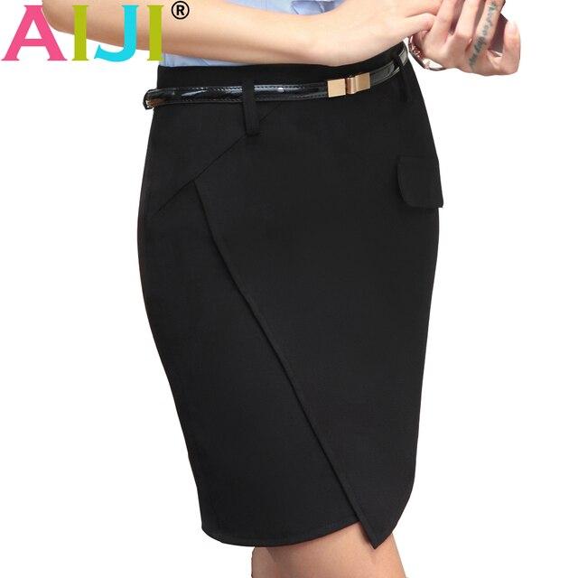 fb6b4929b1 spring fashion slim black work skirt women elegant all-match slim formal  female office business plus size mini short skirt