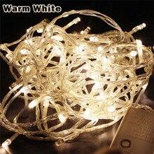 10M 20M 30M 50M 100M LED string Fairy light holiday Patio Christmas Wedding decoration AC220V  Waterproof outdoor light garland
