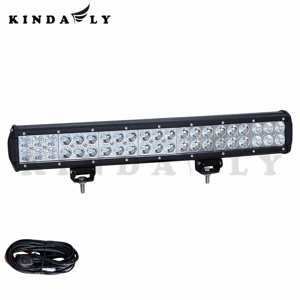 ФОТО KINDAFLY IP68 20inch 168W Spot and Flood Combo LED Light Bar+Wireharness for Cars ATV Boat SUV UTE 4X4 Truck Jeep h3 h7 15999Lm