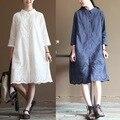 Robe tunique femme dames jurken boho hippie do vintage rockabilly harajuku retro bordado algodão solto mulheres fall primavera dress