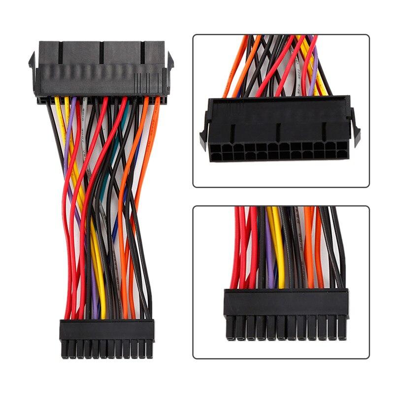 10 cm atx psu padrão 24pin fêmea para mini 24 p macho adaptador de alimentação interna conversor cabo fio para dell 780 980 760 960 pc