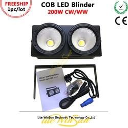 Litewinsune FREESHIP 2018 nowy 2 oczy publiczności Blinder oświetlenie COB DMX Led etap oświetlenie 200 W w Oświetlenie sceniczne od Lampy i oświetlenie na