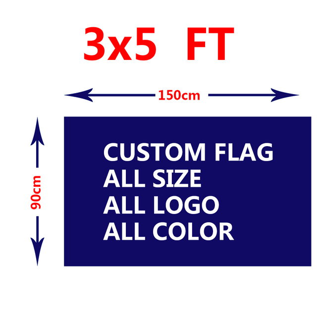3x5ft custom flag any logo any word any style any size for adverting - word flag