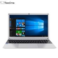 15.6 Inch Laptop Windows 10 Intel E8000 Quad Core 4GB RAM 64GB ROM Notebook with Full Layout Keyboard
