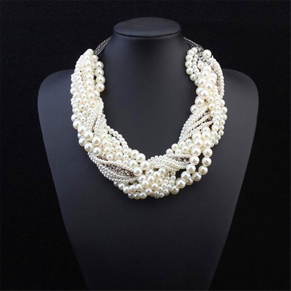 Fashion western style round pearl necklace pendants multiple fashion western style round pearl necklace pendants multiple layers weave vintage women necklace jewelry for patry jq728 in power necklaces from jewelry aloadofball Choice Image