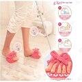 2016 de Las Mujeres Delgado Deslizador de la Media Planta del Pie Masaje Zapatos Pérdida de Peso Que Adelgaza la Dieta de Las Piernas Zapatillas Interior Polar de Coral Pink bowtie
