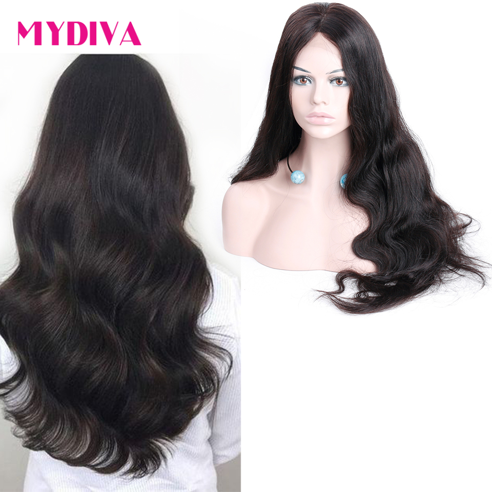 Lace Front Human Hair Wigs Pre Plucked With Baby Hair Brazilian Body Wave Lace Front Wig