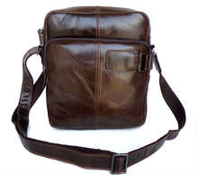 Vintage men messenger bags genuine leather shoulder male bag coffee crossbody bag for men travel bags