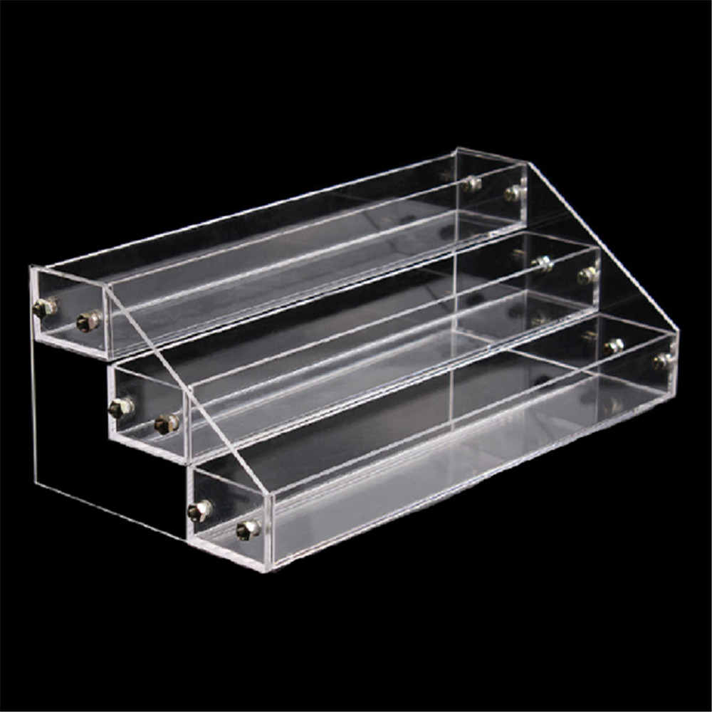 3 Tiers Nail Polish Shelf Acrylic Makeup Organizer Clear
