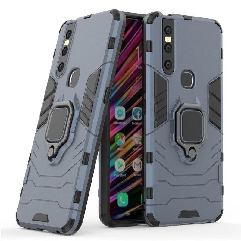 V15 Case on For vivo V15 Shockproof stand Cover Bracket Finger Ring Protective Case For vivo V15 V 15 phone shell