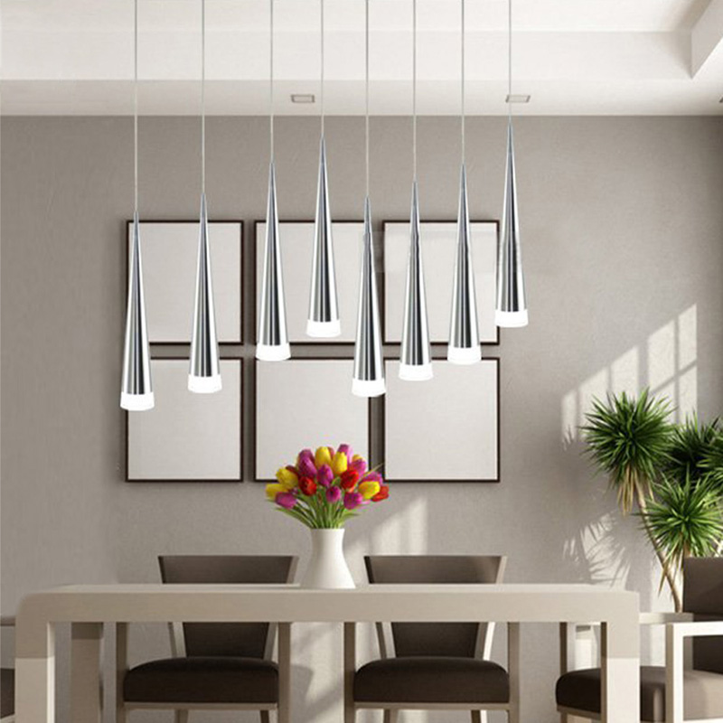 Modern Led Pendant Lamps Living Room Acrylic Stainless Restaurant Bedroom Decorative Pendant Lights Lamparas Home Lighting Lampe