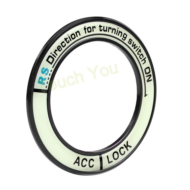 HTB1AHFfKVXXXXaUXFXXq6xXFXXXH - Luminous Alloy Car Ignition Switch Cover Auto Accessories Car Stickers Circle Light Decoration For TOYOTA COROLLA LEVIN Motor