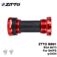 ZTTO BB91 External Bearing Bottom Brackets for Bicycle BSA68 68 73 Thread For Parts Prowheel 24mm Crankset Waterproof CNC MTB ztto bicycle bottom bracket bb109 bb68 bsa68 bsa73 mtb road bike parts for parts 24mm k7 22mm gxp crankset