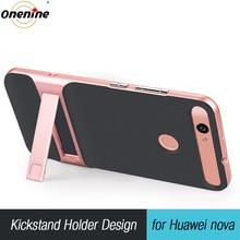 יוקרה 3D Kickstand Funda עבור Huawei נובה CAN L11 CAZ AL10 היברידי מקרה סיליקון כיסוי 5.0 TPU + מחשב 360 מגן נייד טלפון תיק