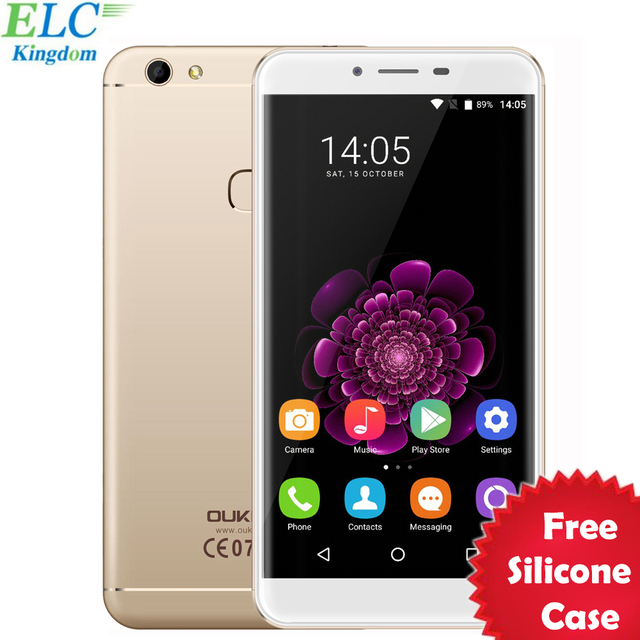 New 5.5'' Oukitel U15S Smartphone Android 6.0 MT6750 Octa Core 4GB+32GB 13.0MP 1920x1080 FHD Fingerprint ID 4G FDD Cell Phone