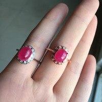 2017 Qi Xuan_Fashion Jewelry_Red камень простые элегантные женские туфли лодочки на Rings_S925 однотонные Серебристые модные Rings_Manufacturer прямые продажи