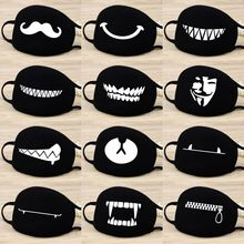 Cotton Dust Mask Cartoon Expression Teeth Muffle Chanyeol Face Respirator Anti Kpop Bear Mouth Mask(China)
