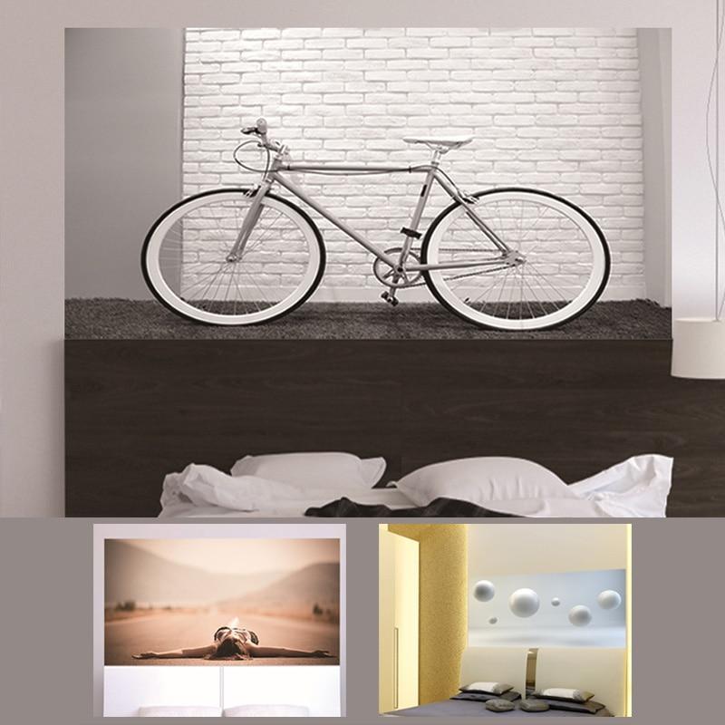 3D Hoofdeinde Sticker Drijvende Bal Fiets Road Girl Slaapkamer Sofa - Huisdecoratie