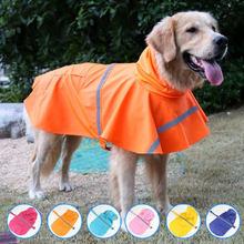 Gran Perro impermeable ropa impermeable para grandes traje de abrigo para perro Golden Retriever Labrador perro impermeable con capucha ropa para mascotas