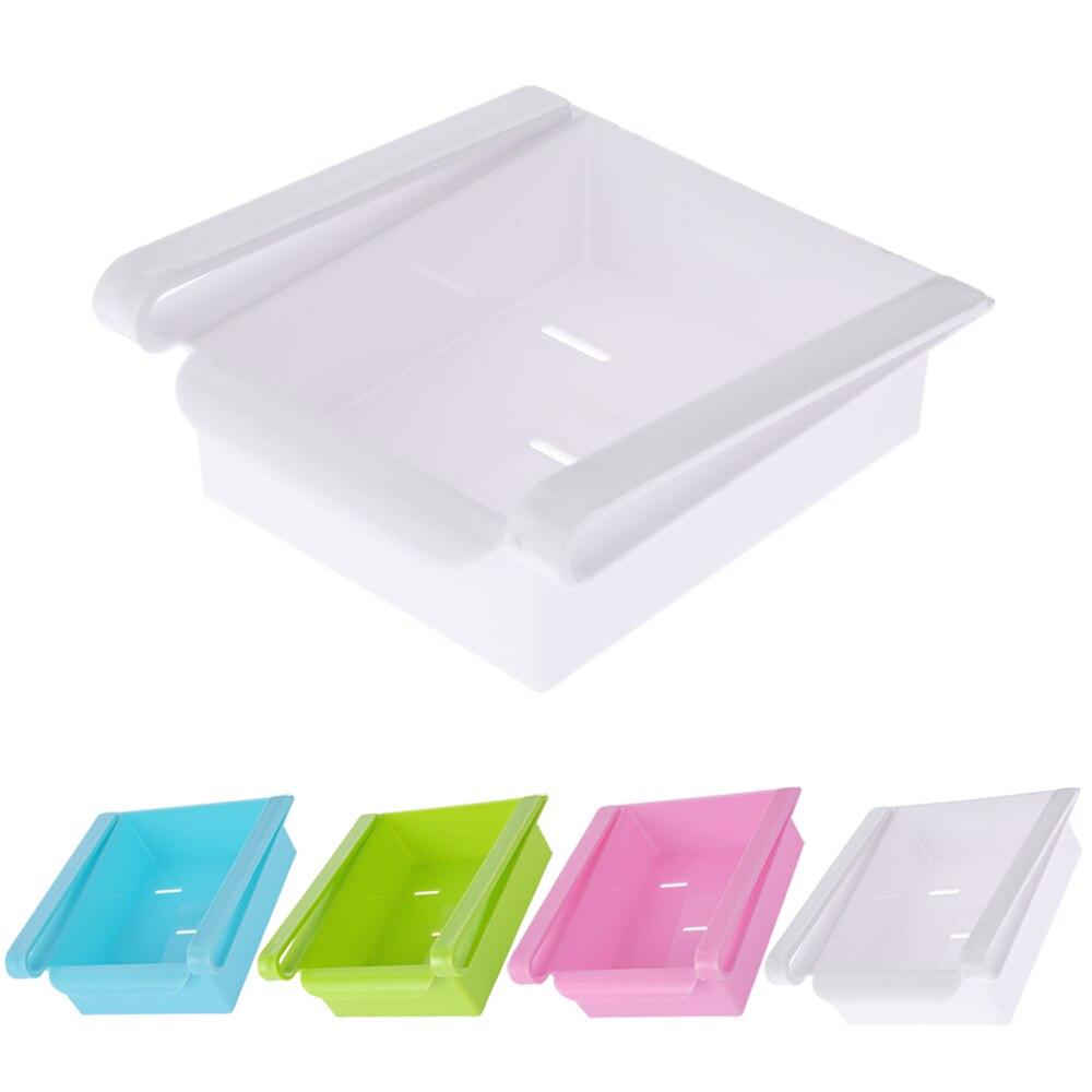 1 * Freezer Storage Organizer  sc 1 st  AliExpress.com & Slide Fridge Storage Rake Freezer Food Storage Boxes Pantry Storage ...