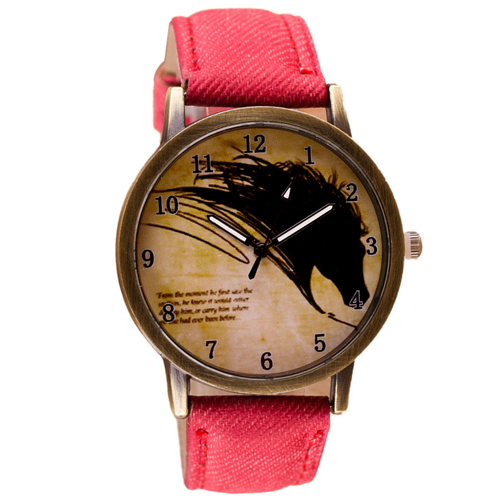 2019 Women Watches Top Brand Luxury Fashion Willby Vintage Brief Painting Horse Watch Quartz Wrist Watches 161213 Drop Shipping