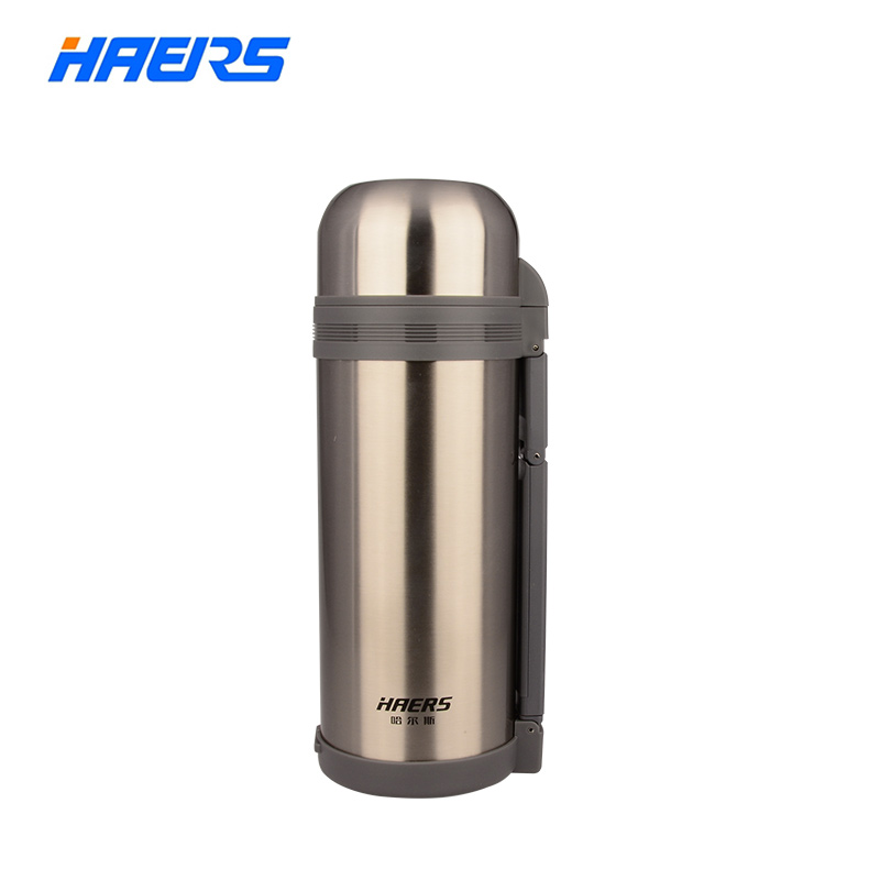 Haers Big Thermos Flask with Hand Grip 1500ml 304 Stainless Steel Insulated Drinkware HG-1500-1