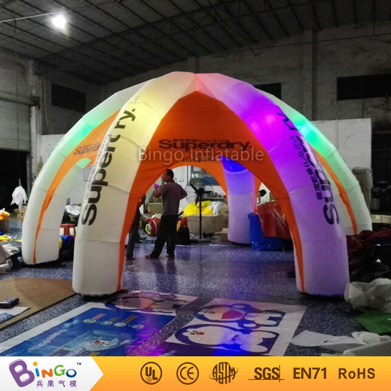 6m diameter led lighting inflatable spider tent with 6 pillars for advertising/promotion/exhibition/events BG-A0700-7 toytent 6x3mh inflatable spider tent advertising inflatable tent inflatable party tent outdoor events tent