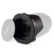 Qeento 52mm digicam lens hood for nikon D5500 D5300 D5200 D5100 D5000 D3300 D3200 D3100 D3000 D60 D40X D40 18-55mm 18-140mm lens