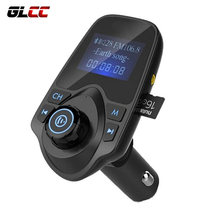 Car Kit Hands Free Bluetooth Aux USB Charger Car Adapter FM Transmitter Wireless Radio FM Modulator Mp3 Player Music Receiver(China)