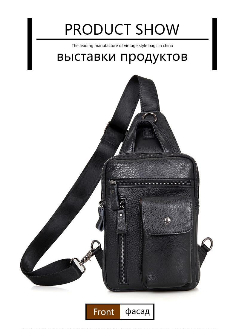 7bd390757d43 Brand Bag Men Chest Pack Single Shoulder Strap Back Bag Genuine ...
