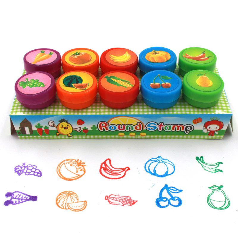 Animal stamp set self inking 10 stamps for children/'s creativity and fun