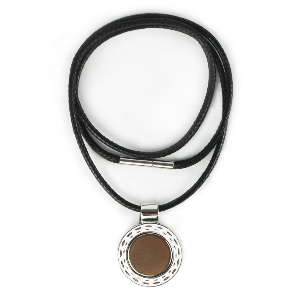 PINMEI Golf Magnetic Necklace With Waxed Cotton Necklace Cord --Crystal Golf Marker Holder