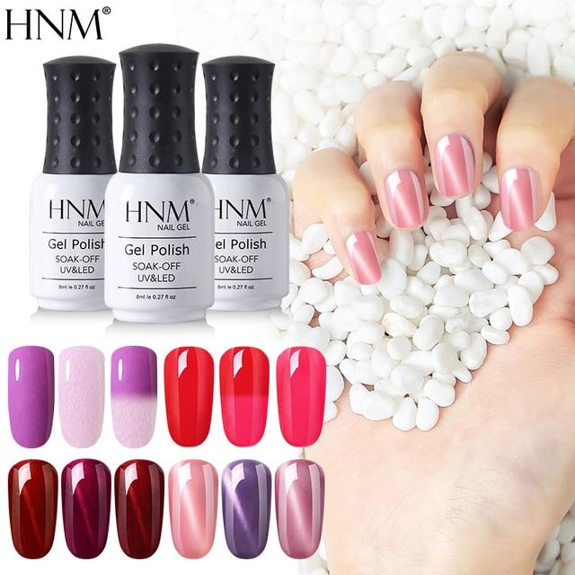HNM 8ML UV Gel Nail Polish Hot Sale Color Paint Gellak Soak Off Semi ...