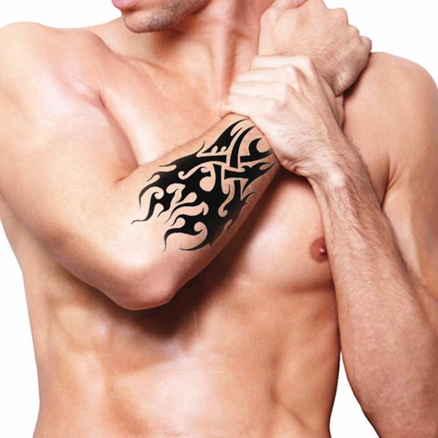 2pcs Cool Temporary Tattoo Body Art Flash Tattoo Stickers For Men